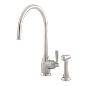 4846 Perrin & Rowe Mimas C Spout Sink Mixer Tap Single Lever Handle And Rinse